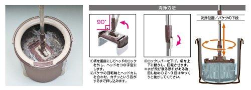 アズマ トルネード角型モップ 柄付 TSM546(1本入)