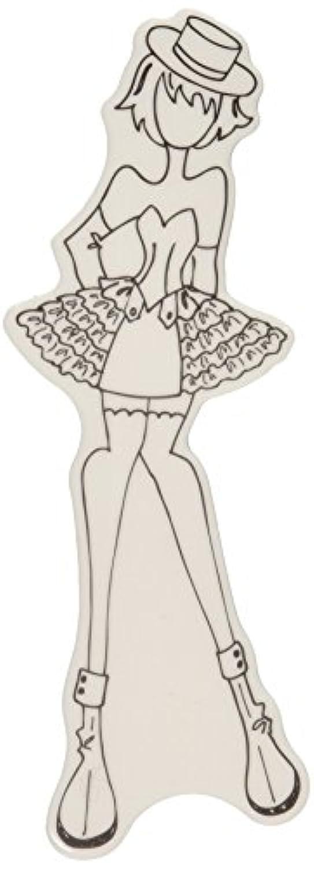 ミクスト メディア人形しがみつくシルクハットとゴム製のスタンプ プリシラ
