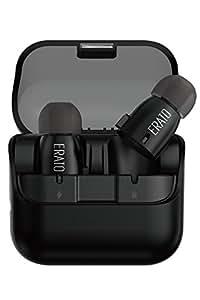 Erato Verse トゥルーワイヤレスイヤホン – ブラック グラフェンドライバー使用 IPX5 充電バッテリーボックス付き