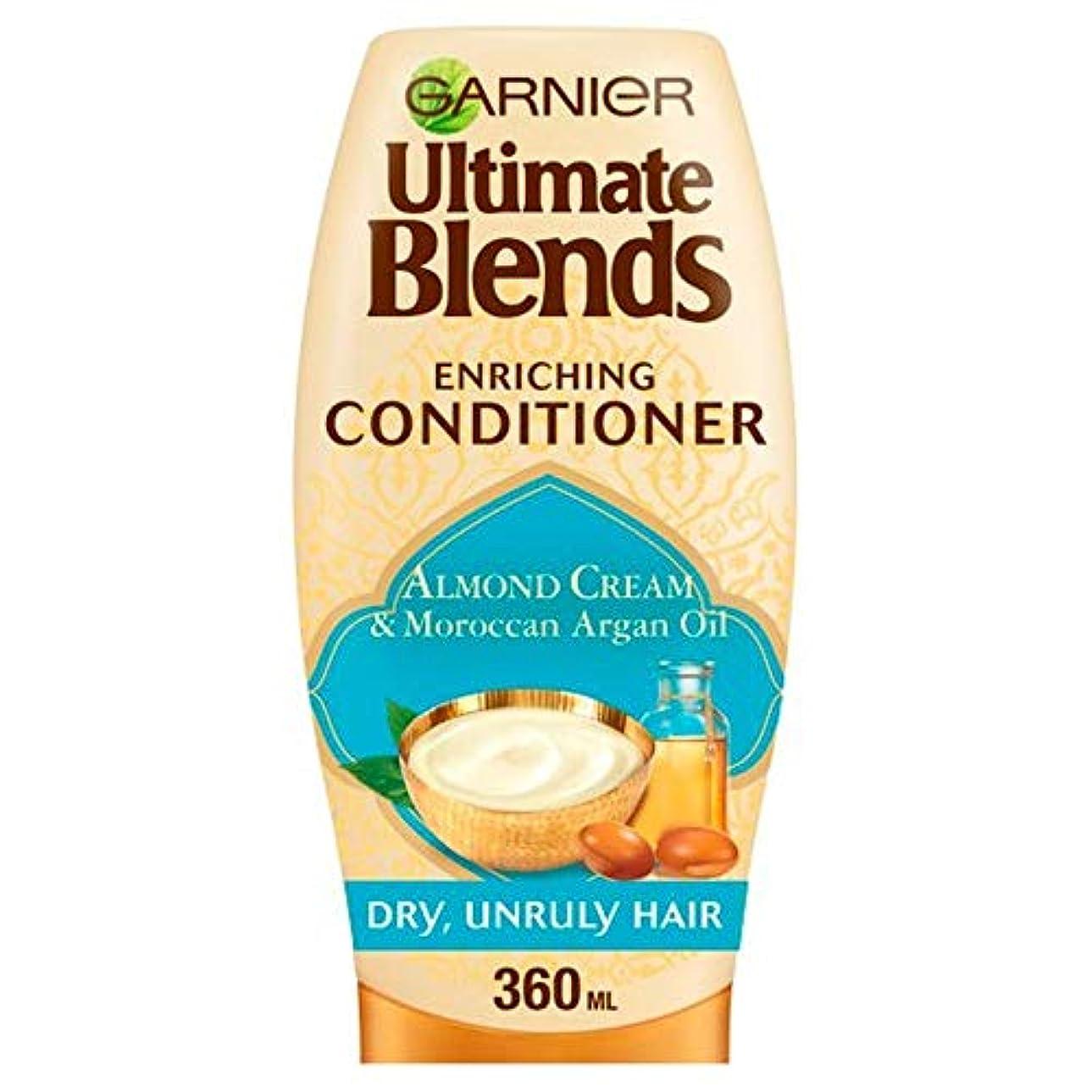 あごひげ装備するアルミニウム[Garnier ] Ga/究極ブレンドのArg/油及びアーモンドDr / Hrでコンディショナー360ミリリットルRを - Ga/R Ultimate Blends Arg/Oil And Almond Dr/Hr Conditioner...