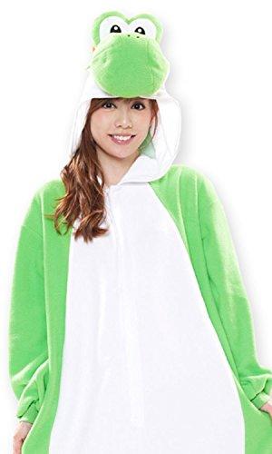 スーパーマリオブラザーズ ヨッシー フリース着ぐるみ コスプレ衣装 男女共用 フリーサイズ