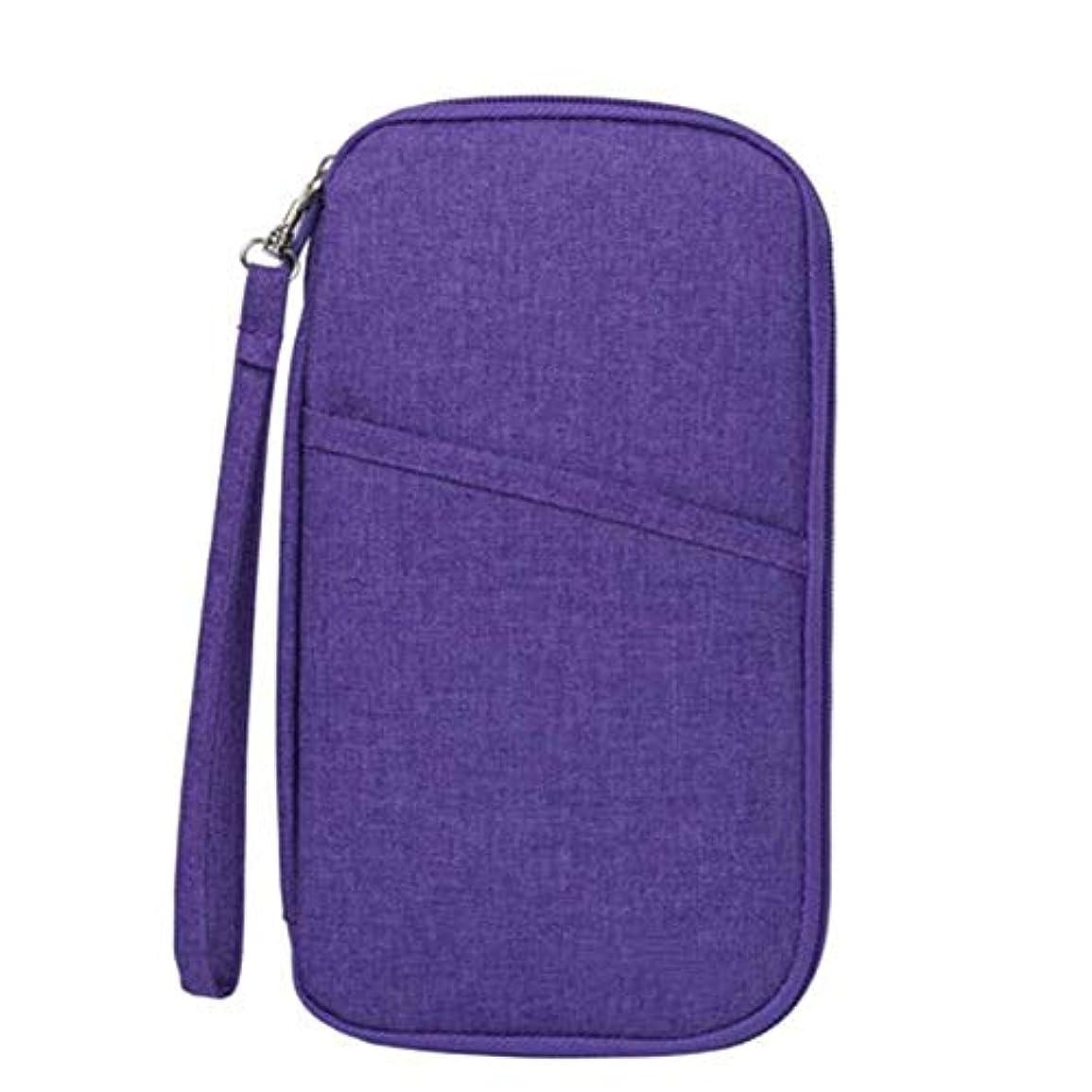 孤児同級生正確DishyKooker 多機能トラベルカードバッグ オーガナイザー パスポートウォレットパッケージハンドバッグ