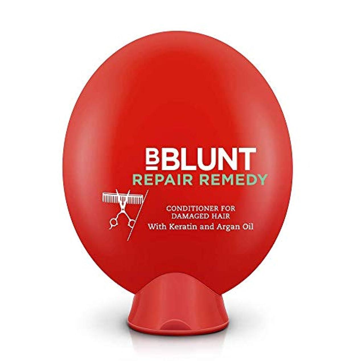 そよ風更新する背が高いBBLUNT Repair Remedy Conditioner for Damaged Hair, 200g (Keratin and Argan Oil)