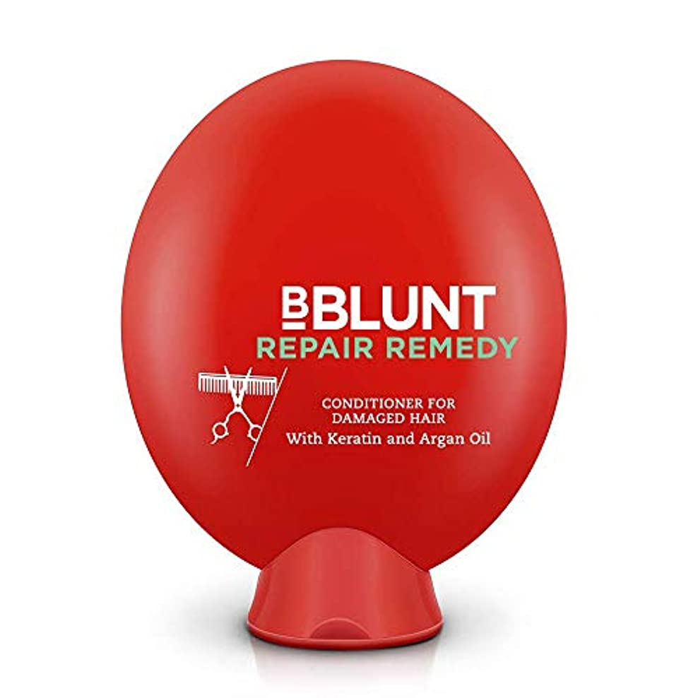 ますます悪用期限BBLUNT Repair Remedy Conditioner for Damaged Hair, 200g (Keratin and Argan Oil)
