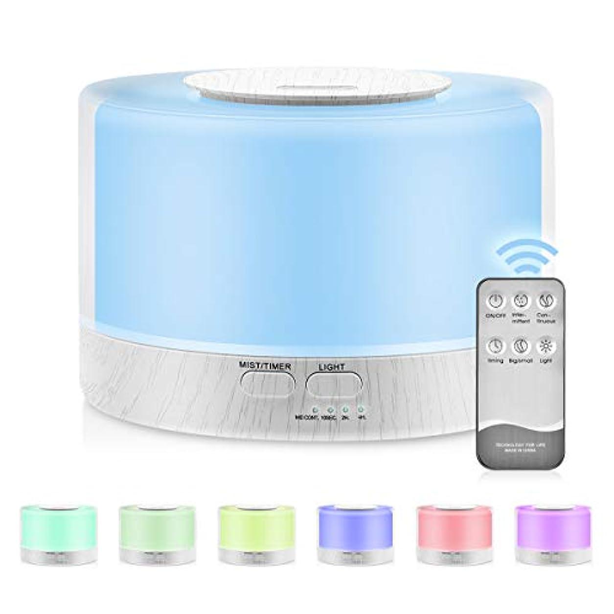 慣れる音声学分析700mlプレミアムエッセンシャルオイルディフューザー5 in 1超音波アロマセラピーフレグランスオイル気化器加湿器タイマーおよび自動オフ安全スイッチ,UKplug