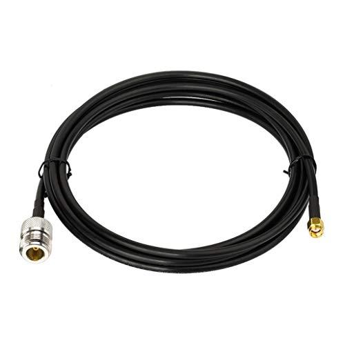 Bingfu WiFiアンテナアダプターケーブル RP-SMAオスからNメス 低損失 KSR-195ケーブル 1m/3フィート ワイヤレスミニPCI Express PCI-Eネットワークカード USB WiFiアダプター WiFiルーターブースターリピーターIPカメラ