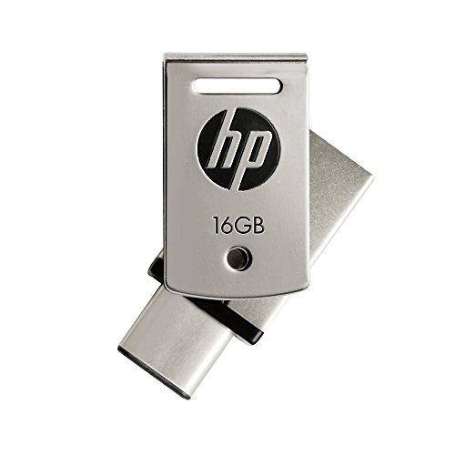 HP 16GB USB3.1対応 Type-C + A デュアルUSBメモリ 金属製の360度回転デザイン2in1 OTG フラッシュドライブ x5000m HPFD5000M-16