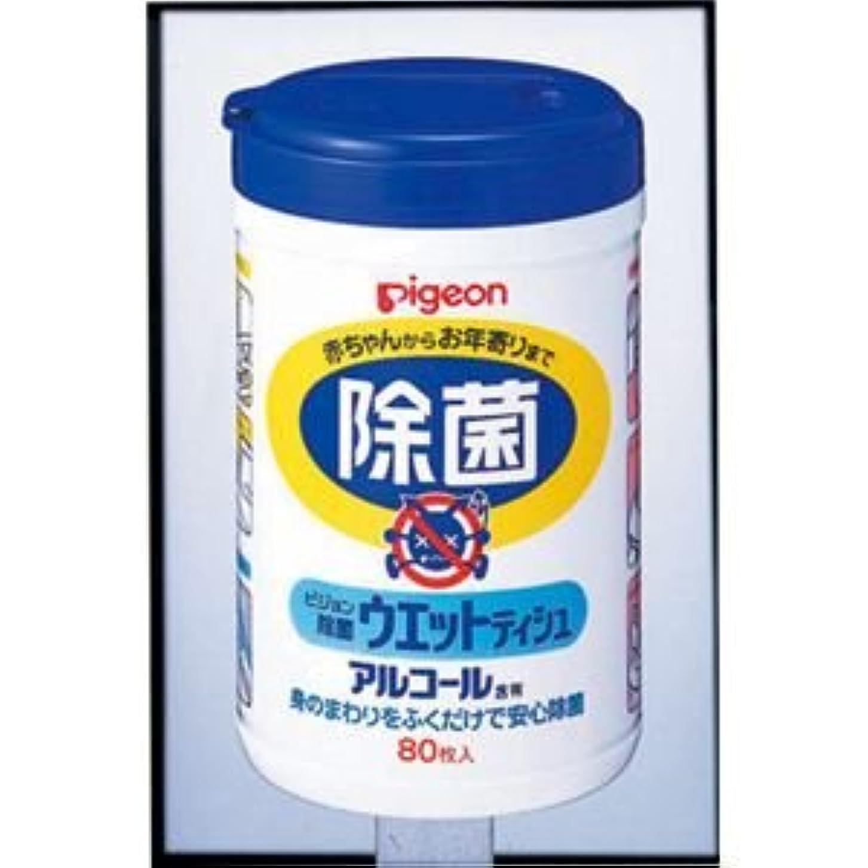 レンズしがみつくバング(まとめ)ピジョン 除菌 除菌ウェットティシュボトル80枚入り 10124【×10セット】