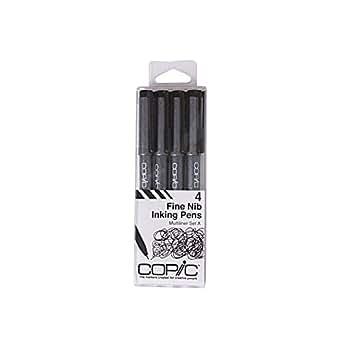 Too コピック マルチライナー 4本組 ブラック Aセット