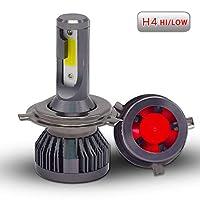 Bojin Industry 2018最新正品 車用 LED ヘッドライト H4 hi/lo 60W(30Wx2) 6000-6500K 3200LM 超曝光 ホウイト 10000時間 2本セット 1年保証 (H4(hi/lo))