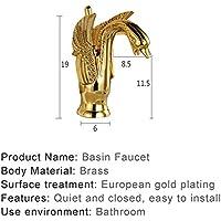 流域蛇口新しいデザインスワン蛇口ゴールド高と短い洗浄流域の蛇口ホテル豪華な銅ゴールドミキサータップ