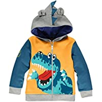 Little Hand Little Boys Dinosaur Hooded Jacket, Cartoon Zipper Hoodies Christmas Outfits Coats for Toddler