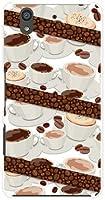 アローズ ビー arrows Be F-04K docomo TPU ソフトケース コーヒーとコーヒー豆 スマホケース スマホカバー デザインケース
