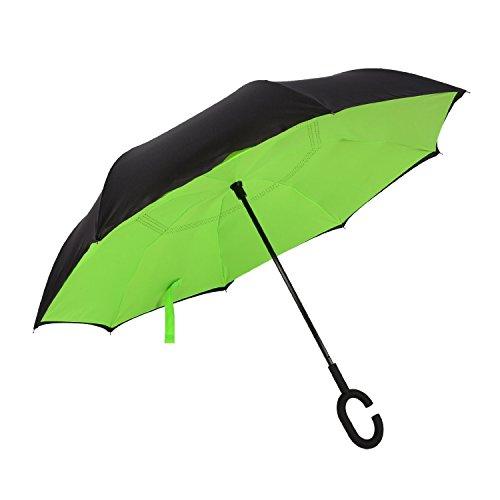 [해외]Aulinkin 반대로 접어 식 우산 C 형 수중 길이 우산 풍속 이중 우산 청우 겸용 양손 해제 가능 [병행 수입품]/Aulinkin reverse folding umbrella C type long handed umbrella wind resistant double umbrella combined with rain and rain Both ha...