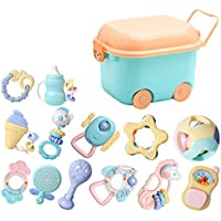 ベビーラトルテザーのおもちゃセット、ラトル赤ちゃんの新生児の最初のセットのおもちゃ ( Color : A )