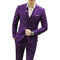 MOGU Men's Suits Slim Fit 3 Piece