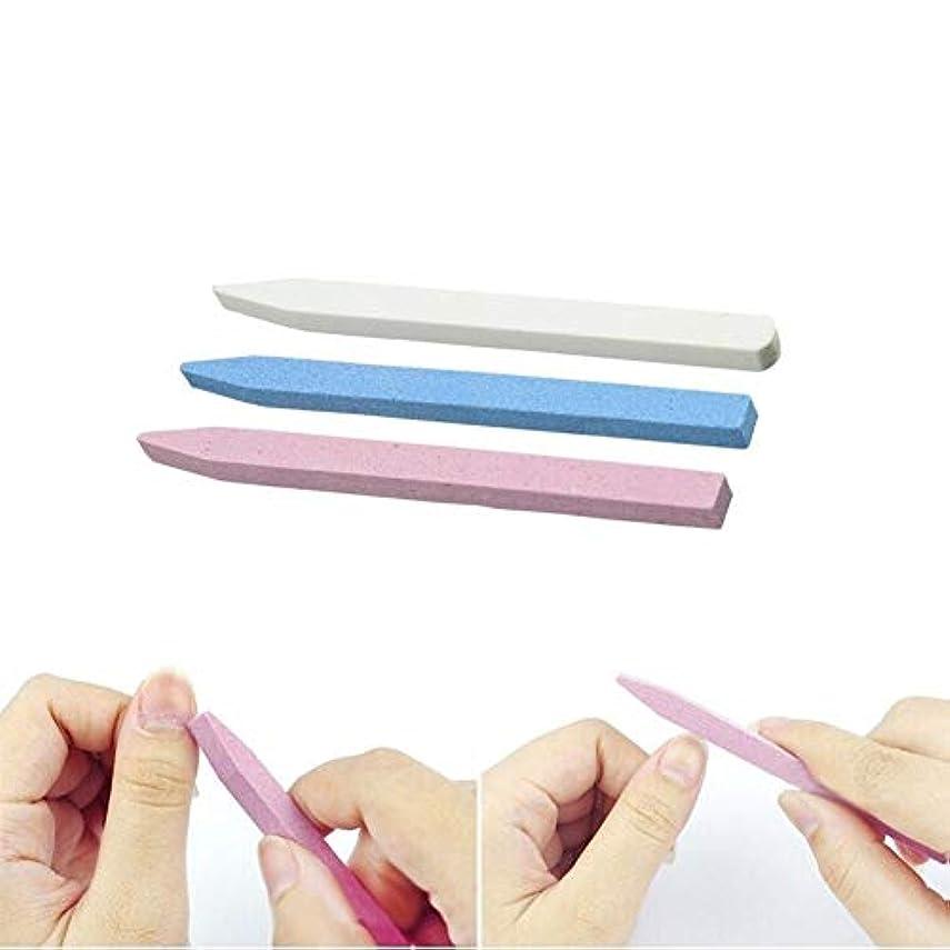 ルビー凍った印象的ネイルアート 専用 3本セット ネイルファイル ウォッシャブル両面タイプのエメリーボード ガラス製爪やすり