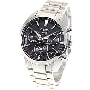 [セイコーウォッチ] 腕時計 アストロン クオーツアストロンイメージ GPSソーラー 黒文字盤 サファイアガラス ダイヤシールド SBXC021 メンズ シルバー