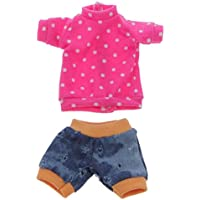 SONONIA ブライス人形に用服 流行 水玉Tシャツとデニムショートパンツ スーツ 装飾 お土産