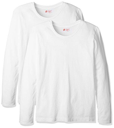 (ヘインズ) Hanes Tシャツ ジャパンフィット FOR HER クルーネック 長袖 2枚組 レディース HW5410 010 ホワイト M