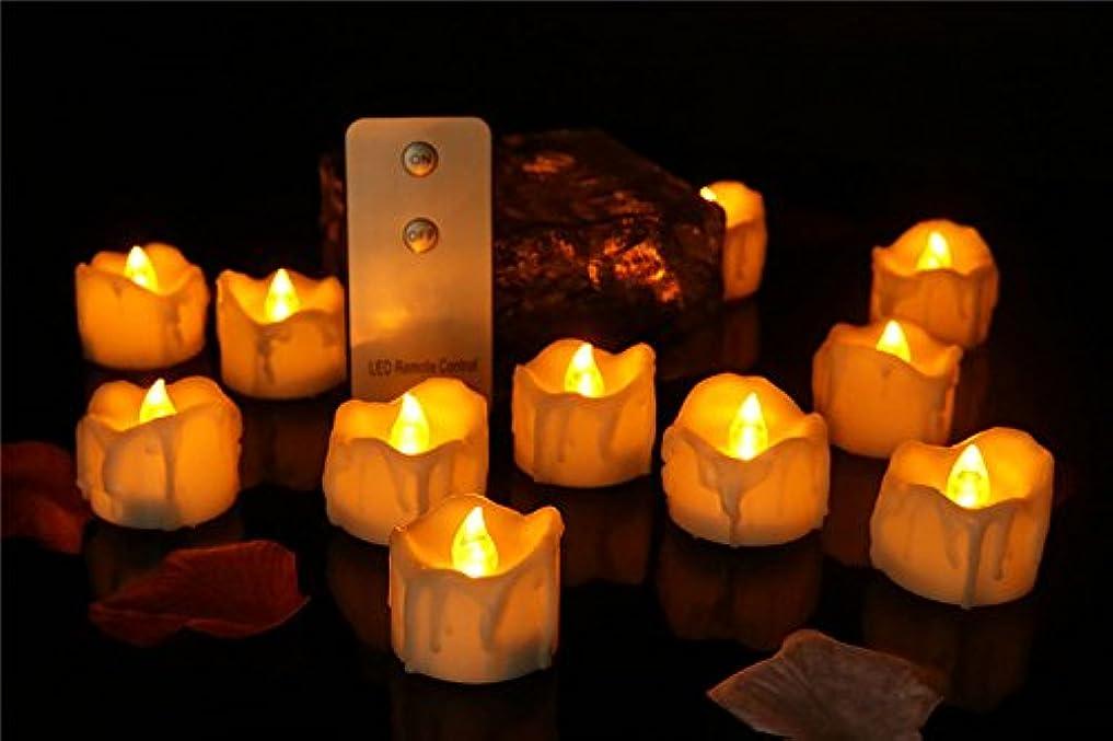 捧げる順応性のある制約LEDキャンドル涙型専用リモコン付き暖白点滅LEDキャンドル ファッションクリスマス結婚式誕生日インテリアライト