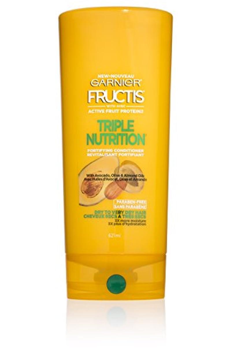 不実所有者申請者Garnier Fructisトリプル栄養コンディショナー、ドライベリードライヘアー、21 FLに。オズ。