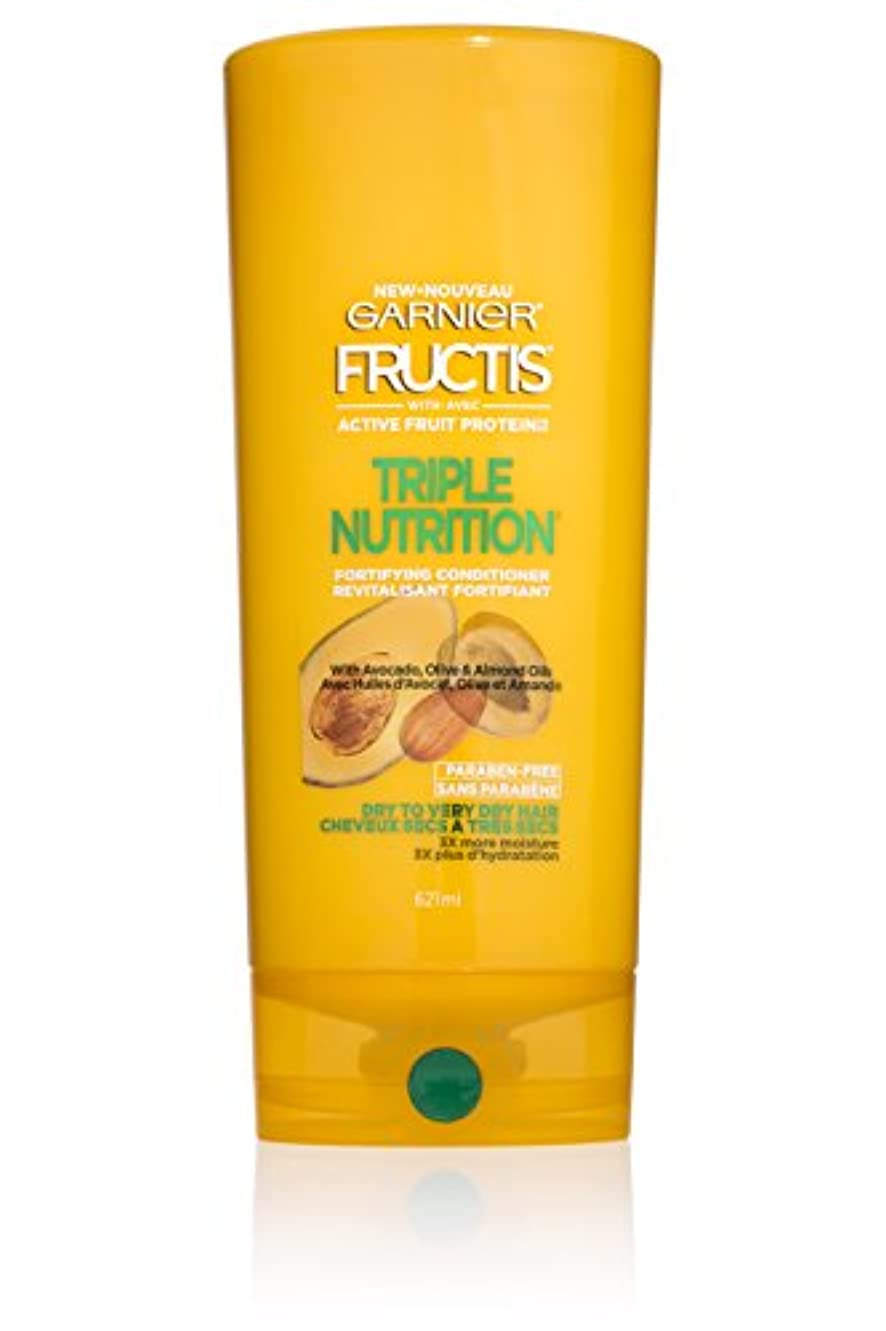 Garnier Fructisトリプル栄養コンディショナー、ドライベリードライヘアー、21 FLに。オズ。
