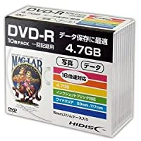 (まとめ)HIDISC DVD-R データ用5mmスリムケース10P HDDR47JNP10SC【×5セット】
