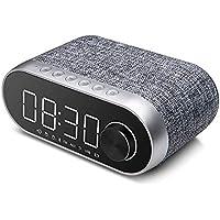 ワイヤレスBluetoothスピーカーカード目覚まし時計多機能家庭用ベッドサイドFMラジオスーパーベースユニバーサルインテリジェントスピーカー