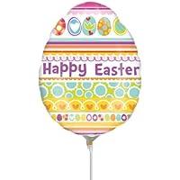 Anagram Happy Easter Egg Shaped Mini箔バルーンon Sticks ( 3パック)
