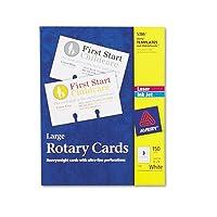 Large Rotaryカード、レーザー/インクジェット、3x 5、カード3/シート、150カード/ボックス、合計250sh , Sold as 1カートン