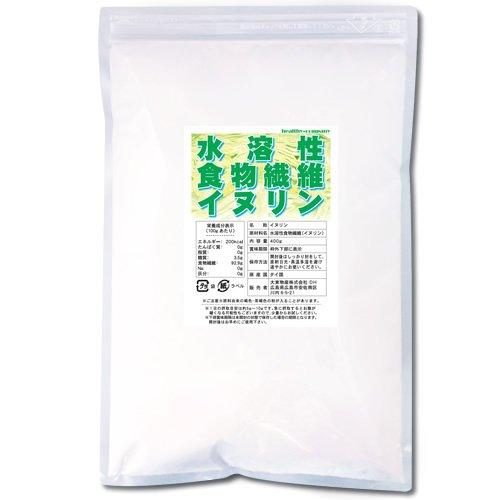 イヌリン(水溶性食物繊維)400g【ヘルシーカンパニー】