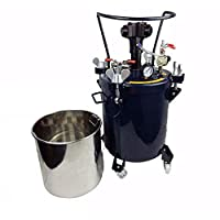8Gal (30L) Pressure Feed Paint Ink Glu Dye Mixer Pot Tank Sprayer Regulator Air Agitator Mixer Blender Stirrer