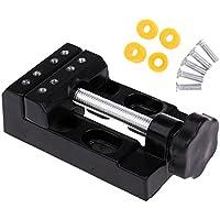 F Fityle ジョーベンチクランプ ミニドリルプレスバイス マイクロクリップフラット バイスツール ブラック