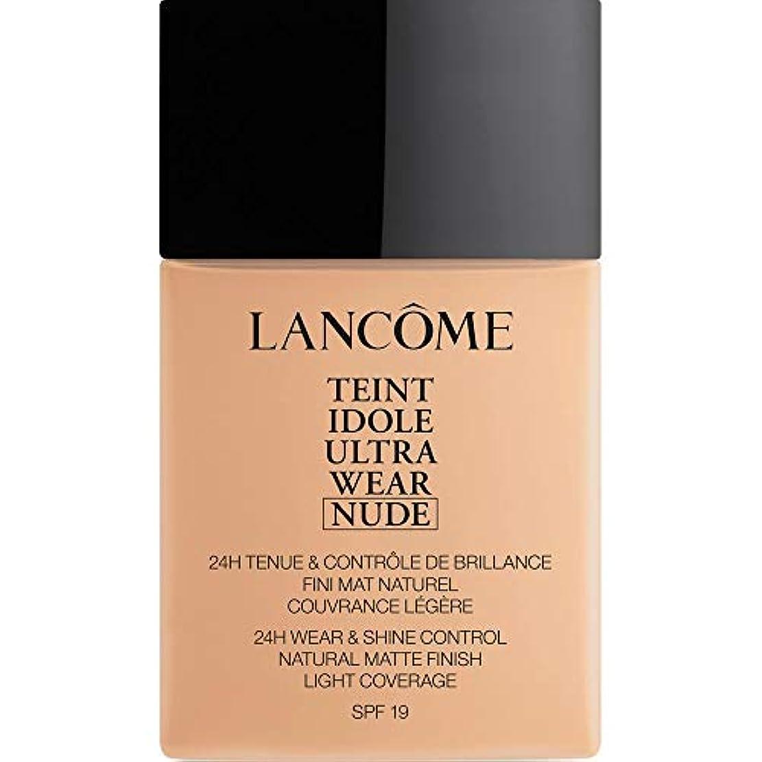 九時四十五分鉱夫ライナー[Lanc?me ] ランコムTeintのIdole超摩耗ヌード財団Spf19の40ミリリットル021 - ベージュジャスミン - Lancome Teint Idole Ultra Wear Nude Foundation...