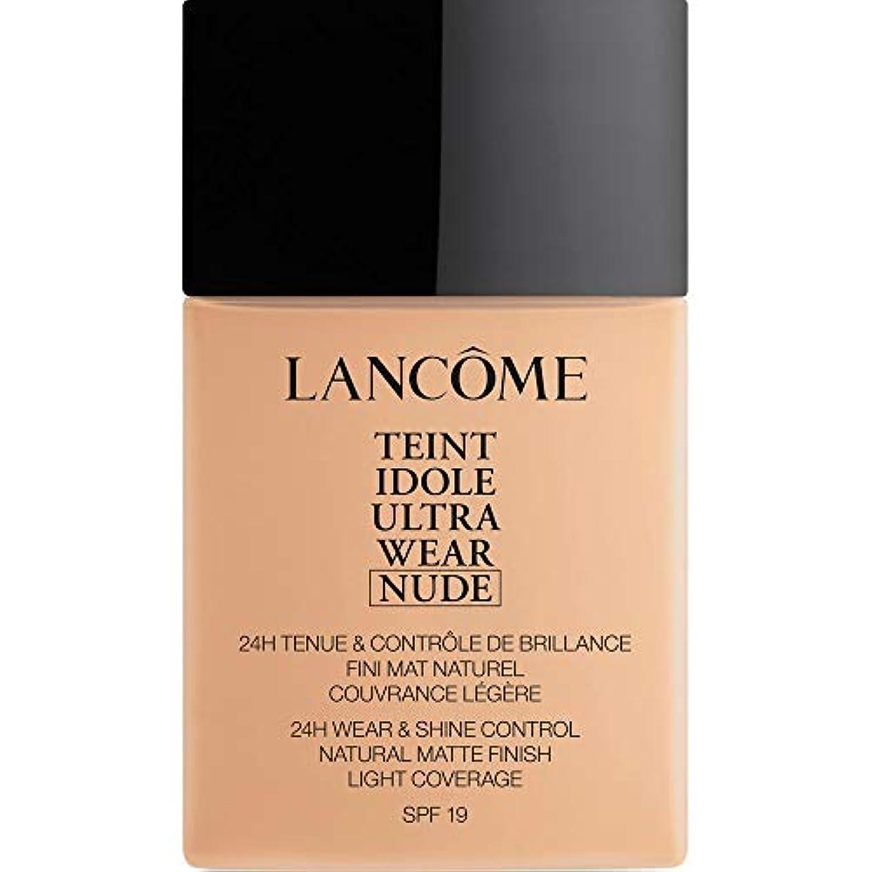北米マスクフォージ[Lanc?me ] ランコムTeintのIdole超摩耗ヌード財団Spf19の40ミリリットル021 - ベージュジャスミン - Lancome Teint Idole Ultra Wear Nude Foundation...