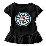 非常に良質の子供の半袖 Hockey Night 春夏低年齢の女の子のTシャツ