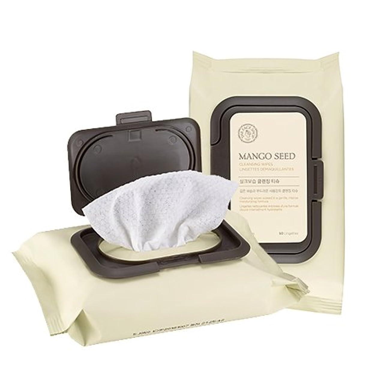 く肌寒いレルムTHE FACE SHOP Mango Seed Cleansing Tissue ザフェイスショップ マンゴシード シルク 保湿 クレンジング ティッシュ (50枚) [並行輸入品]