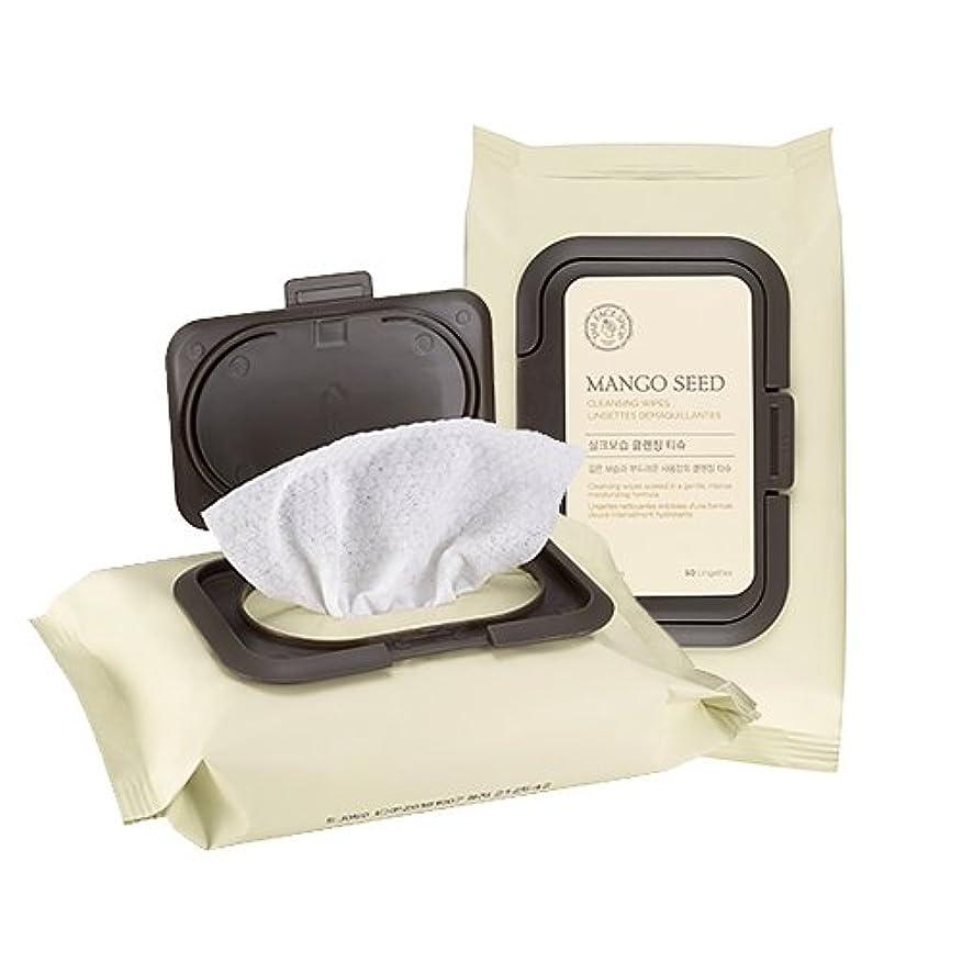 チーズ反論者方言THE FACE SHOP Mango Seed Cleansing Tissue ザフェイスショップ マンゴシード シルク 保湿 クレンジング ティッシュ (50枚) [並行輸入品]