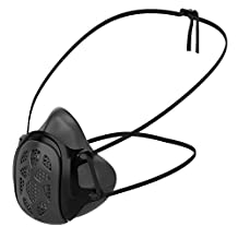 GILL Mask | Reusable Respirator (Adult Regular, Black) | Uses Your Own Disposable Face Mask as a Filter