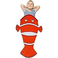 Clownfish Blanket for Kids幼児用3 12年に古いプレミアム品質おくるみCozy非常にソフト快適Minky Warm Sleeping袋キュートと楽しいデザイン – Greatクリスマスと誕生日ギフト – フリース