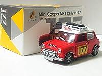 ミニクーパー Mk1 ラリー 177 モンテカルロ TINY Mini Cooper Rally タイニー 約1/64 3インチ オールドミニ 3