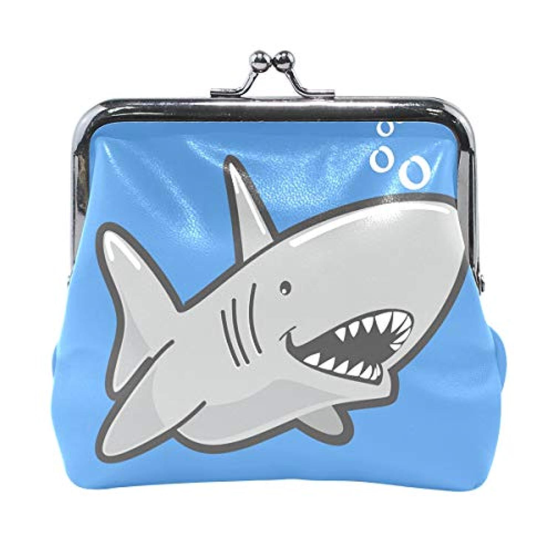 がま口 財布 口金 小銭入れ ポーチ さめ ふか 海 動物 Jiemeil バッグ かわいい 高級レザー レディース プレゼント ほど良いサイズ