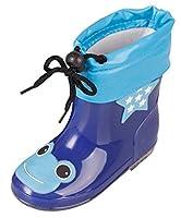 [FEOYA] レインブーツ 子供 小学生 男の子 レインシューズ 軽量 防水 可愛い 梅雨対策用 雨具 雨靴 18cm ブルー