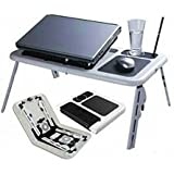 BRAND NEW PORTABLE ADJUSTABLE MULTI-FUNCTION LAPTOP E-TABLE USB DESK TABLE
