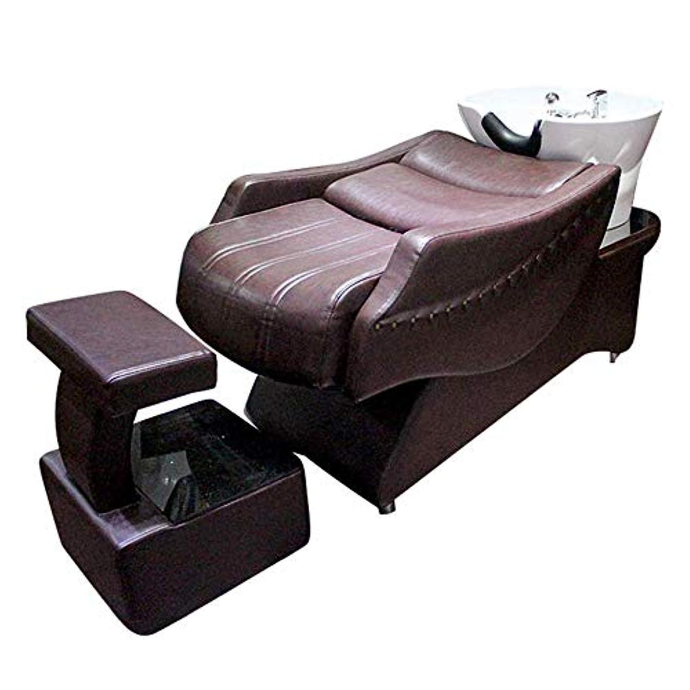 別のホーン入射シャンプーチェア、 高級な半横たわるシャンプーベッド逆洗ユニットシャンプーボウル理髪シンク椅子用スパビューティーサロン機器