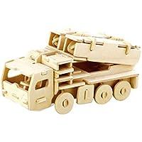 Rampmu 3D木製パズル 環境に配慮した組み立て玩具 教育ゲーム 子供向けギフト 3Dパズル 23x18x0.6cm Rampmu
