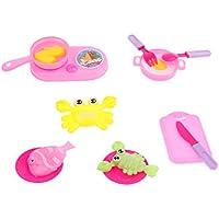 IPOTCH 子供 幼児 プラスチック製 ままごと ごっこ遊び キッチン 調理器具 食器 14個セット