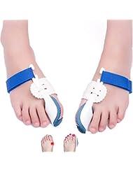 親指外反矯正器、調整可能な腱弓補正器 外反母趾腱膜補助矯正 つま先セパレータープロテクターとして機能します。 フットケア 男性&女性向け
