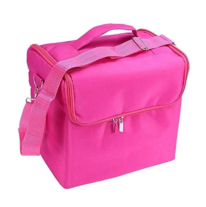 結論お茶雄弁な化粧品ケース、ローズレッド多層化粧品バッグ、ポータブル旅行多機能化粧品ケース、美容ネイルジュエリー収納ボックス